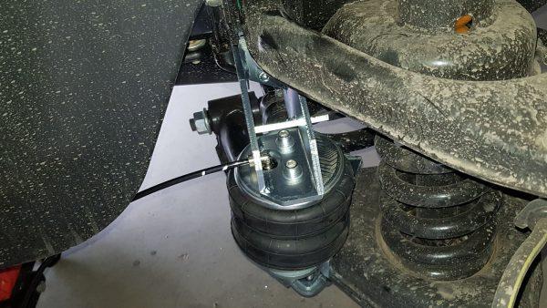 02061 ✘ Установка пневмоподушки на нижний рычаг подвески GAZelle New NEXT