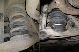 Замена штатных пружин на пневмоподвеску в Mitsubishi Pajero