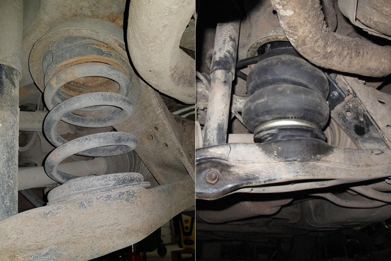 43030 ✘ Замена штатных пружин на пневмоподвеску в Mitsubishi Pajero