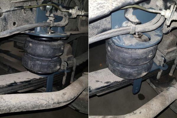 Установка передней пневмоподвески Aride на Mitsubishi Fuso Canter