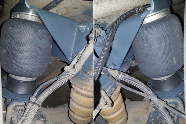 Установка пневмоподвески на Chevrolet Express задняя ось