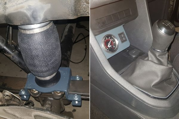 63040 ✘ Система управления пневмоподвеской 1TK Pro на VW Caddy 2015
