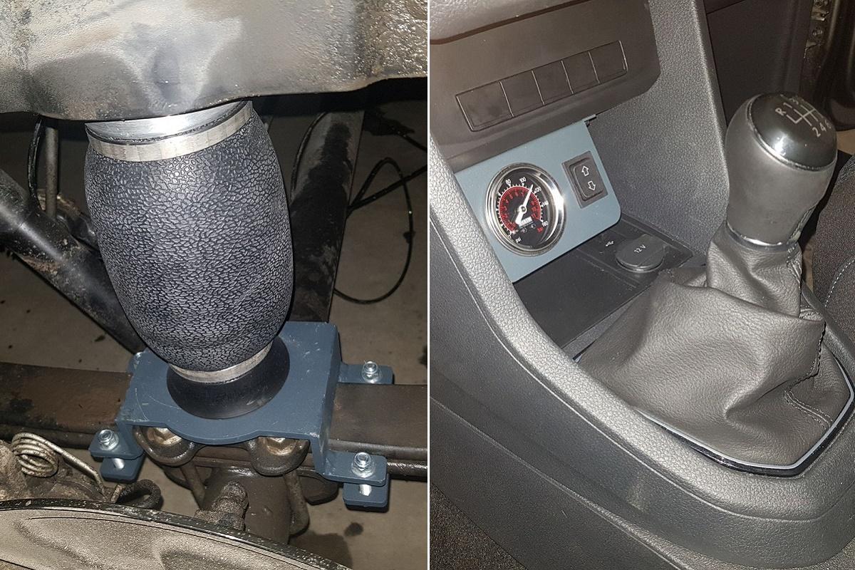 Установка пневмоподвески на VW Caddy 2018