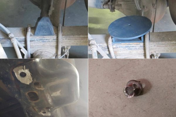 Air suspension assembly on Toyota Tundra in Minsk