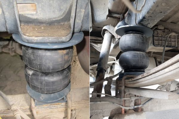 Installation of air bags on Toyota Tundra in Minsk