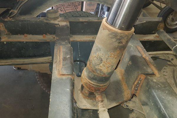 02058 ✘ Механизм опрокидывания платформы ГАЗ-САЗ 2507