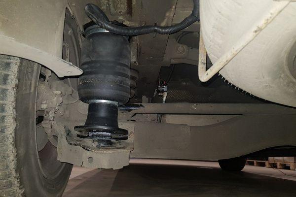 Установка задней пневмоподвески на Fiat Scudo II