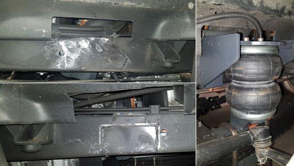 03033 ✘ Процесс монтажа передних пневмоподушек на УАЗ «Буханка» (2017-)