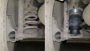 Lada Largus установка пневмоподушек вместо пружин