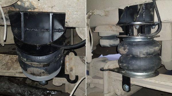 05013 ✘ Установка передних пневмохелперов на КАМАЗ 4308 в Минске