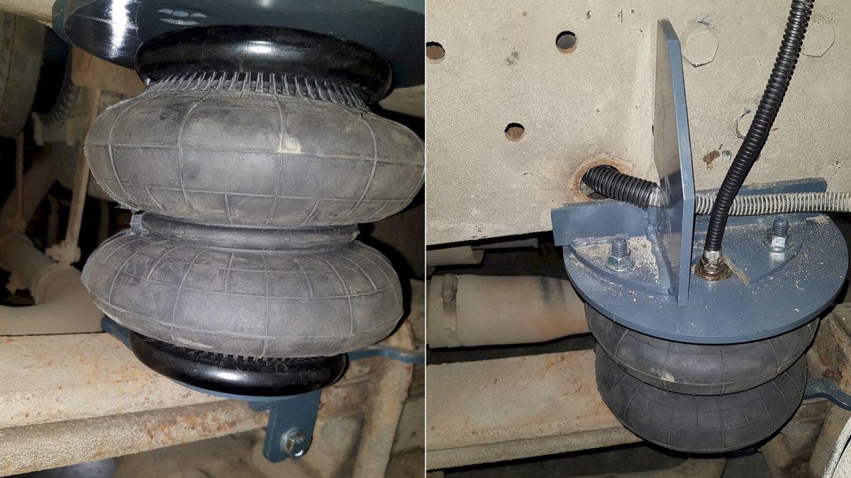 05015 ✘ Установка передних пневмоподушек на КАМАЗ 4308