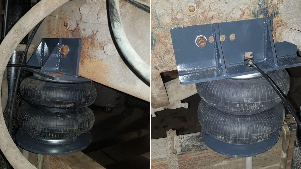 05021 ✘ Установка пневмоподвески на КАМАЗ 53212